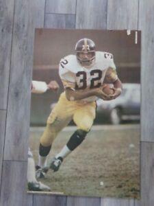 🔥 Vintage NFL 1973 Studio One FRANCO HARRIS  Steelers Store Poster Display RARE
