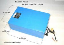 Lithium Akku Batterie 48 60 Volt 20 Ah für Elektro Scooter Bikes Quad Lipo
