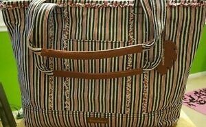Tommy Bahamas Large Canvas / Leather Tote Bag! NWOT