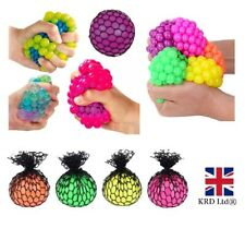 SQUISHY MESH GEL BEADS BALL Squeeze Net Stress Relief Kids Toy Gift PM543107 UK