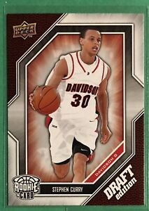 2009 Stephen Curry Rookie Card Upper Deck Draft Edition #34 RC Warriors