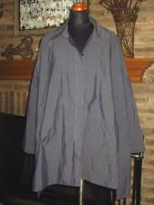 Lagenlook Classic P TAYLOR PRISCILLA TAYLOR Oversized Gunmetal Gray Top Shirt  M