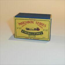 Matchbox Lesney 27 a Low Loader empty Repro B style Box