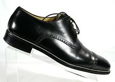 ERMENEGILDO ZEGNA NAPOLI COUTURE XXX Cap Toe Mens Derby Oxfords Shoes US 8 EU 7