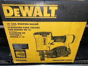 Brand New Factory Sealed DEWALT DW45RN 15 Degree Coil Roofing Nailer Pneumatic