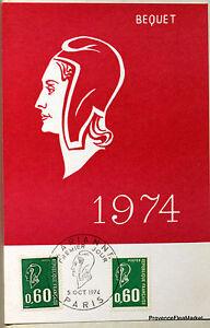 Yt 1814 France Card Postal Maximum Marianne Of Spoiler 1974