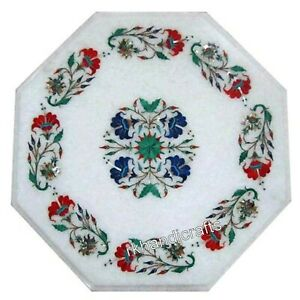 15 Inches Exclusive Inlay Art Coffee Table Top Hand Made Corner Table Home Decor