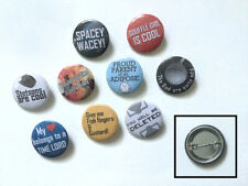 DOCTOR WHO COLLECTION OF AMERICAN MADE BUTTON PIN METAL CONVENTION BADGES!
