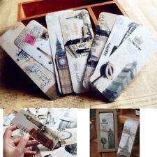 30pcs Retro Paris London Famous Bookmark Novelty Ducument Book Marker Label