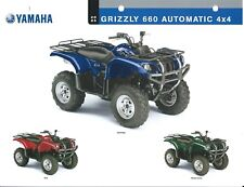 ATV Data Sheet - Yamaha - Grizzly 660 Automatic 4x4 - 2005  (V75)