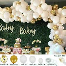 102PCS Balloon Arch Kit Garland Birthday Wedding Baby Shower Party (Gold/White)
