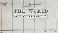 c1848 World Map Antique Mercator's Projection