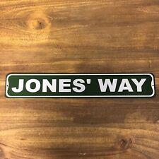 "Metal Street Sign Jones' Way Garage Basement Bar Home Kitchen Decor 3""x18"""
