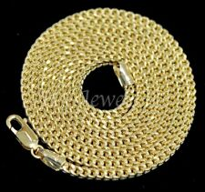 14k Solid Yellow Gold hollow franco chain necklace Italy 26 inch 14.70gram #5423