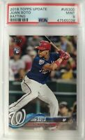 2018 Topps Update #US300 Juan Soto rookie RC card PSA 9 Washington Nationals