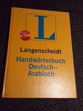 Langenscheidt Handwörterbuch Deutsch - Arabisch von Günther Krahl Wörterbuch