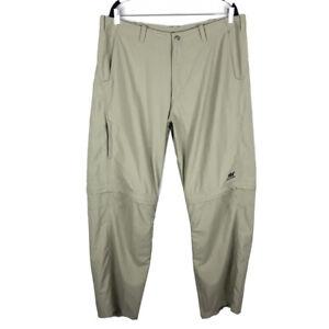 Helly Hansen Khaki Convertible Zip Off Hiking Pants Shorts Mens Size 2XL (37x31)