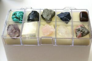 Mineral boxed Collection 10 specimens