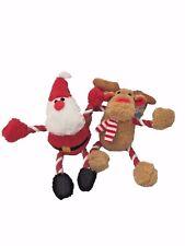 Santa Reindeer Hug Tugz Rope Legs &Arms Soft Teddy Christmas Toy Gift Xmas 10408