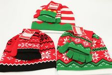 Lot of Three New Holiday Hat and Glove Sets-Multiple Colors and Styles