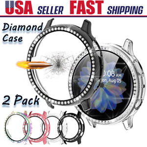 For Samsung Galaxy Watch Active 2 40/44mm Diamond Bling Bumper Case Screen Cover