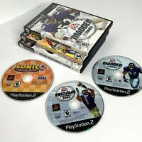 Lot of (3) Playstation 2 Games SONIC PLUS, NFL MADDEN 2005, NCAA FOOTBALL 2005