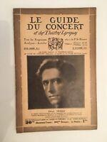 El Guía de La Concierto Y Las Teatro Letra Henri Morin N º 3 1931