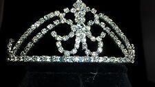 Bridal, Pageant, Rhinestone,Crystal,Prom,Wedding,Crown Tiara,#2,Comb Silver New!
