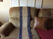Burlap and Lace table runner. Navy lace, 12� wide x 12 ft. Long, used once