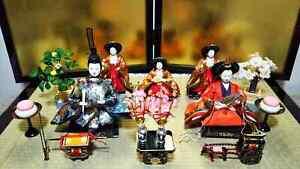LOT 5 Vintage Japanese Hina doll set Samurai Warrior Emperor Royal Wedding