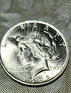 ✈✈ 1922 - Peace Dollar nice Bu coin✈✈