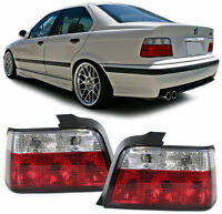 CRYSTAL CLEAR REAR BACK LIGHTS FOR BMW E36 3 SERIES SALOON 1990-1998 NICE GIFT