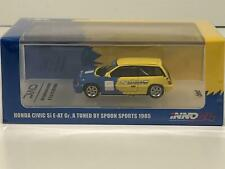 Honda Civic Si e-at #95 Spoon Yellow Blue 1:64 Scale Inno Models