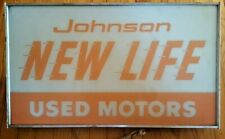 RARE VINTAGE AUTHENTIC JOHNSON OMC MOTOR BOAT LIGHT DISPLAY SIGN ADVERTISEMENT