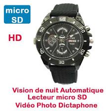 Montre Mini Caméra Espion 720p lecteur micro SD Vision Nocturne auto Cyber K