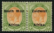 SG 33 SOUTH WEST AFRICA 1924 - 4d ORANGE-YELLOW & SAGE-GREEN - MOUNTED MINT