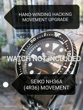 Seiko SKX013 Movement Upgrade to NH36 (4R36) HAND-WINDING HACKING MOD SKX13