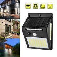 100 LED Solar Powered PIR Flood Lamp Motion Sensor Light Outdoor Garden Z9V7
