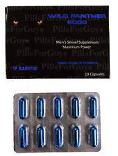 Wild Panther 6000 - 10 Pills - 1 Box - Male Enhancement Pill Sexual Performance