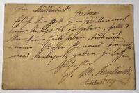 Dt. Reich Ganzsache 5 Pfennig Straßburg nach Colmar 1876