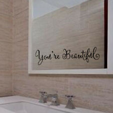 """1 Piece Wall Sticker Black PVC Letters """"youre beautiful"""" Home and Living Decor"""
