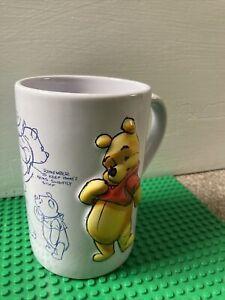 Winnie The Pooh Rare Disney Store 3d Embossed Mug