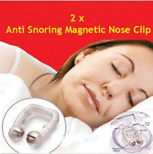 2x Anti Snoring Stop APNOEA Stop Snoring Nose magnet Clip Anti snore nose ring