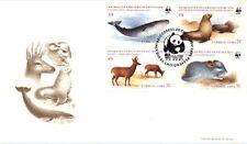 Chile 1984 FDC Endangered Species WWF Animales en Peligro de Extincion