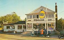 5x7 LAKE SUNAPEE GULF SERVICE GAS STATION  50's COCA-COLA NEWBURY HARBOR N.H.