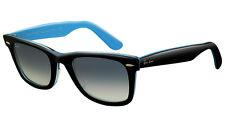 RARE NEW Genuine RAYBAN WAYFARER Black Blue 54mm LARGE Sunglasses RB 2140 10013F