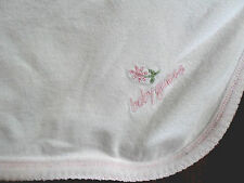 Baby Guess Pink Baby Blanket Plush Lovey Girl Pink Flower 29 x 28""