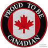 PROUD TO BE CANADIAN embroidered iron-on PATCH CANADA FLAG MAPLE LEAF