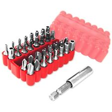 33-pc. SECURITY Bit Set Tamper Proof Set Drill Screwdriver Bit Holder Set