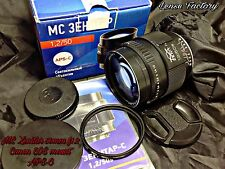 MC Zenitar S 50mm F1.2 KMZ Lens for Canon EF-S APS-C EXC. SLR/DSLR/Mirrorless.